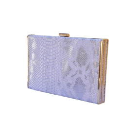 Phyton Lady Box Clutch White