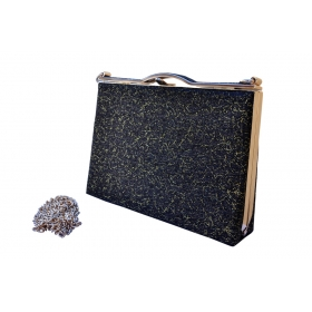 Shimmery Sparkle Party Clutch Black