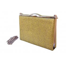 Shimmery Sparkle Party Clutch Gold