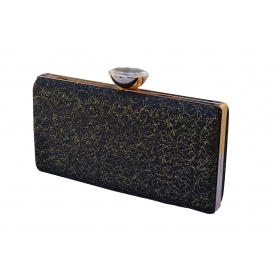 Crystal Sparkle Party Clutch Black