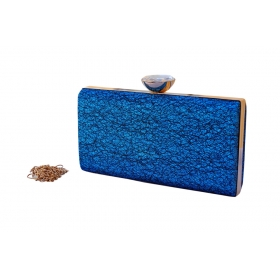 Crystal Sparkle Party Clutch Blue