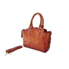 Wave Matte Hand Held Light Brown Handbags.