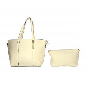 Cream Shoulder Bag In Bag