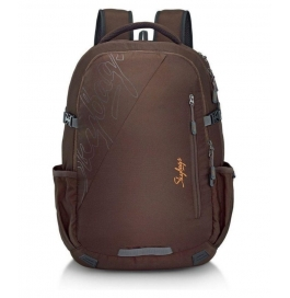 Skybags Teckie With Rain Cover Laptop Backpack (brown)