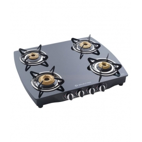 Bajaj 4 Burner Cgx-10b-ss Glass Gas Cooktop