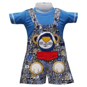 Blue Cotton Rompers