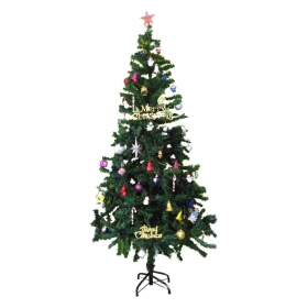 Bandekar Alloy Christmas Tree Green-5 Ft- With Decoration Set Of 40 Pc