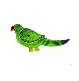 Puzzle Hand Painted Parrot