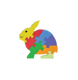 Puzzle Plain Colour Rabbit