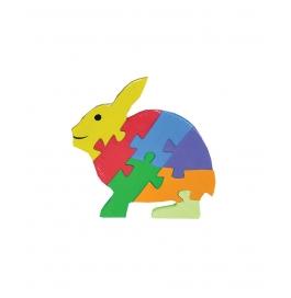 Puzzle Plain Colour Rabbit