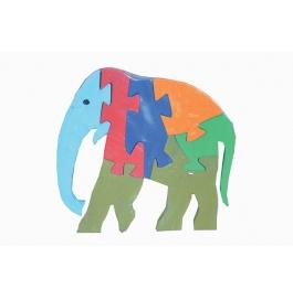 Puzzle Plain Colour Elephant