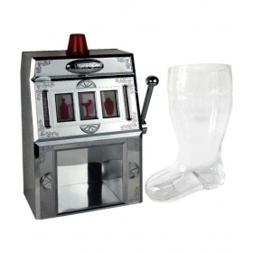 Dispenser And Beer Boot Glass Combo