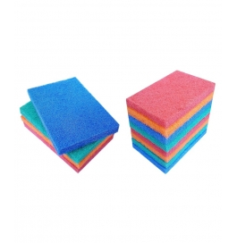 Soft Touch Multi Colour Cleaning Scrub Pad- Pack Of 12