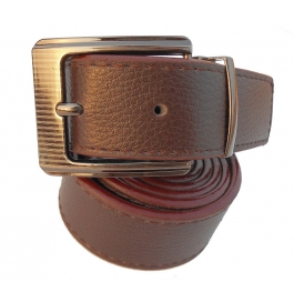 Mms Men Formal Brown Artificial Leather Reversible Belt