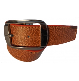 Mms Men Formal Tan Artificial Leather Reversible Belt