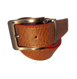 Mms Men Formal Tan Artificial Leather Reversible Belt