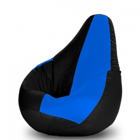 Xl Bean Bag Cover In Blue And Black