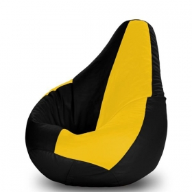 Dolphin Xl Bean Bag With Bean In Black And Yellow