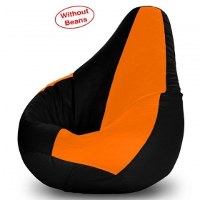 Xl Bean Bag Cover In Black And Orange