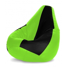 Dolphin Bean Bag With Beans In Black And Green - Xl