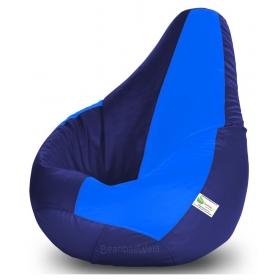 Bean Bag-xl N.blue&r.blue-filled(with Beans)