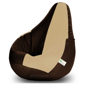 Bean Bag-xl Brown&beige-filled(with Beans)