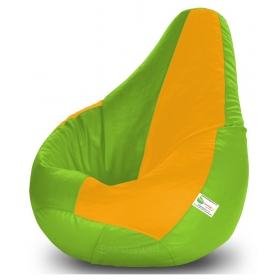 Bean Bag-xl F.green&yellow-filled(with Beans)