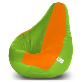 Bean Bag-xl F.green&orange-filled(with Beans)