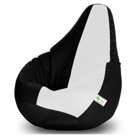 Bean Bag-xl Black&white-filled(with Beans)