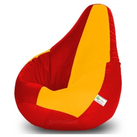 Bean Bag-xl Red&yellow-filled(with Beans)