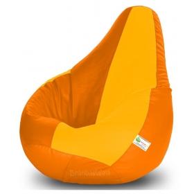Bean Bag Xxl-orange&yellow-filled(with Beans)