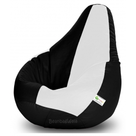 Bean Bag-xxl Black&white-filled(with Beans)