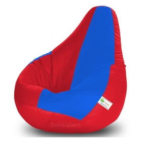 Bean Bag-xxxl Red&r.blue-filled(with Beans)