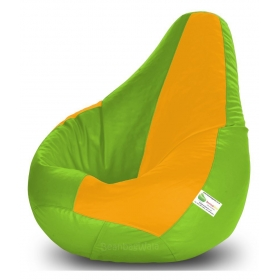 Bean Bag-xxxl F.green&yellow-filled(with Beans)
