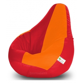 Bean Bag-xxxl Red&orange-filled(with Beans)