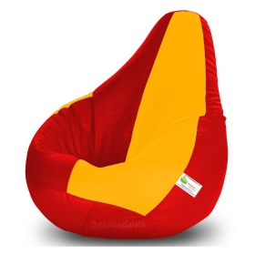 Bean Bag-xxxl Red&yellow-filled(with Beans)