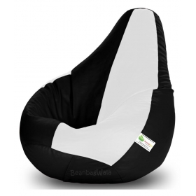 Bean Bag-xxxl Black&white-filled(with Beans)