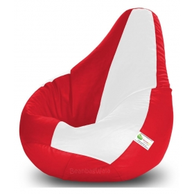 Bean Bag-xxxl Red&white-filled(with Beans)