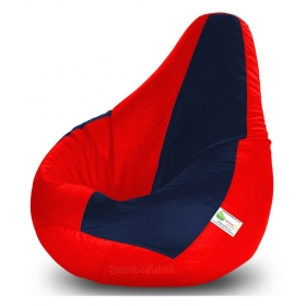 Bean Bag-xxxl Red&navy Blue-filled(with Beans)