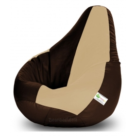 Bean Bag-xxxl Brown&beige-filled(with Beans)