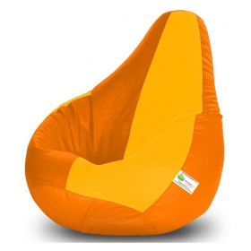Bean Bag-xxxl Orange&yellow-filled(with Beans)