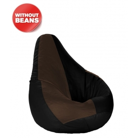 Bean Bag Cover Black & Brown Xl