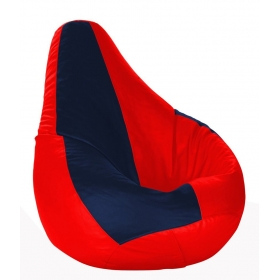 Xl Bean Bag With Beans Red & Navy Blue