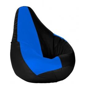Xl Bean Bag With Beans Black & Royal Blue