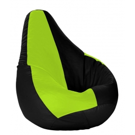 Xl Bean Bag With Beans Black & Fluorescent Green