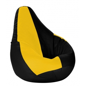 Xl Bean Bag With Beans Black & Yellow