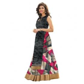 Multicoloured Bhagalpuri Silk A-line Semi Stitched Lehenga