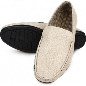 Men's Beige Loafers