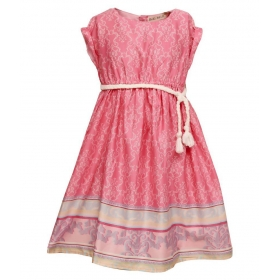 Cotton Casual Printed Dress For Girls