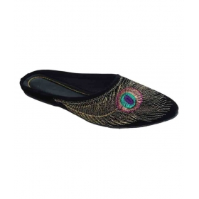 e372237479 Black Flat Ethnic Footwear